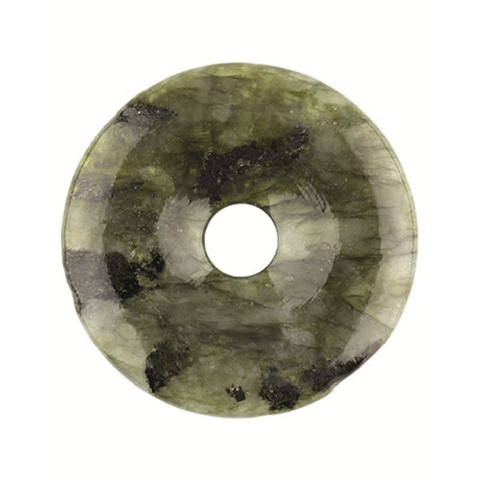 Labradoriet donut 30 mm