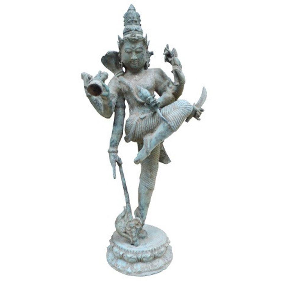 Lakshmi antiek-look beeld brons nr.7