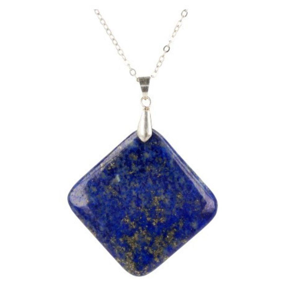 Lapis Lazuli edelsteen hanger 35 mm vierkant