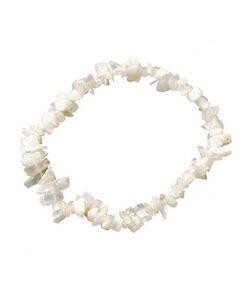 Maansteen wit splitarmband