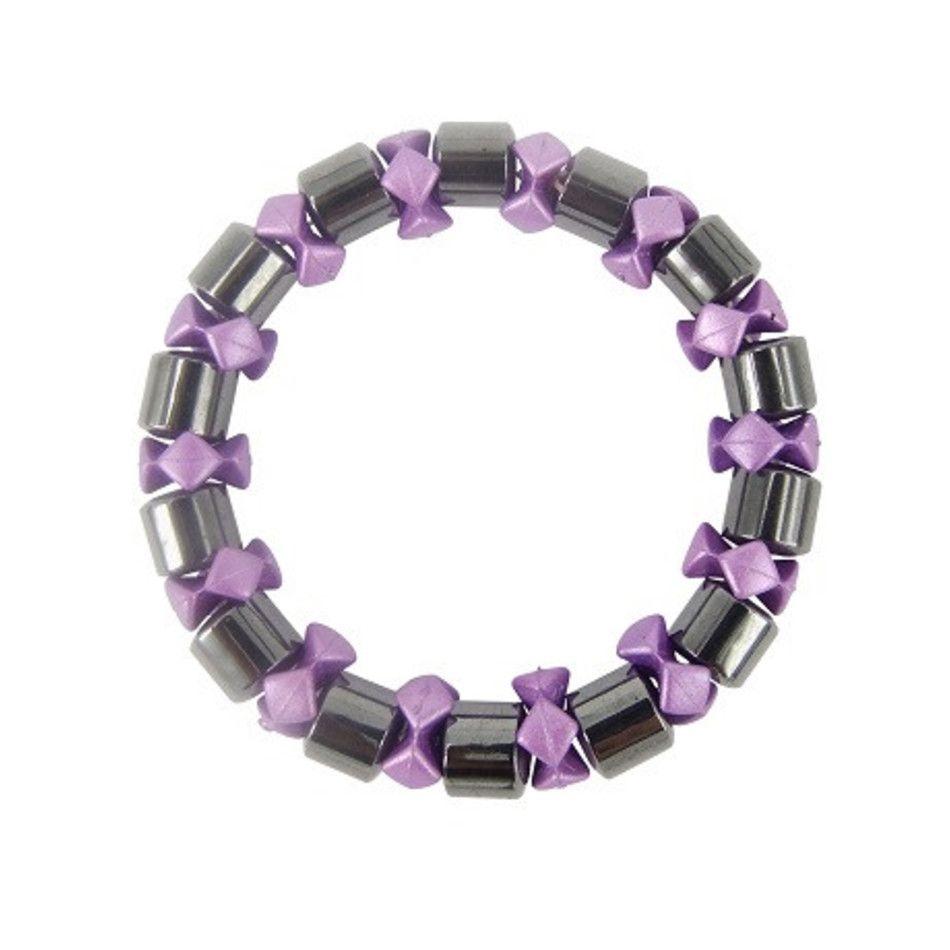 Magneetarmband wiel paars