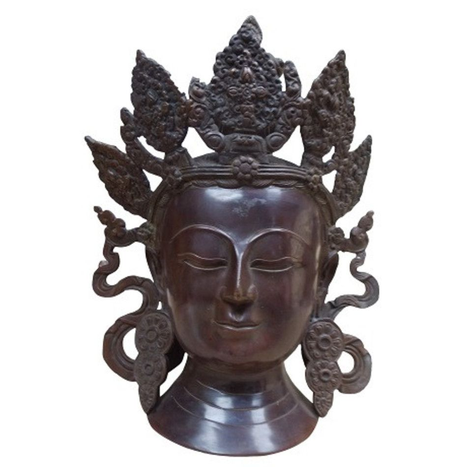 Manjoeshiri hoofd beeld brons nr.12