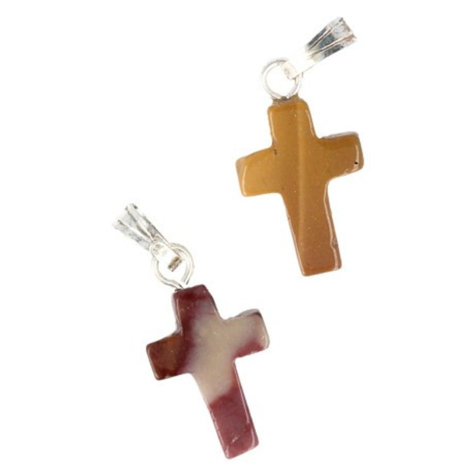 Mokaiet kruis hanger 14 mm