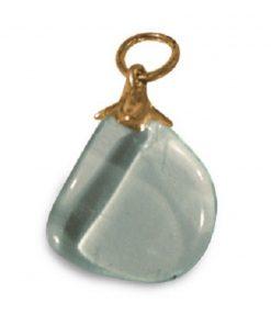 Obsidiaan helder edelsteen hanger (synth)