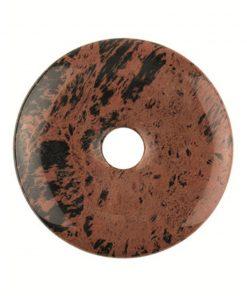 Obsidiaan mahonie donut 30 mm
