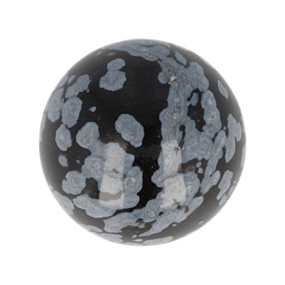 Obsidiaan sneeuwvlok edelsteen bol 20 mm