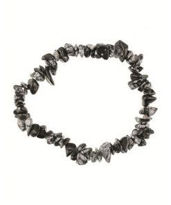Obsidiaan sneeuwvlok splitarmband