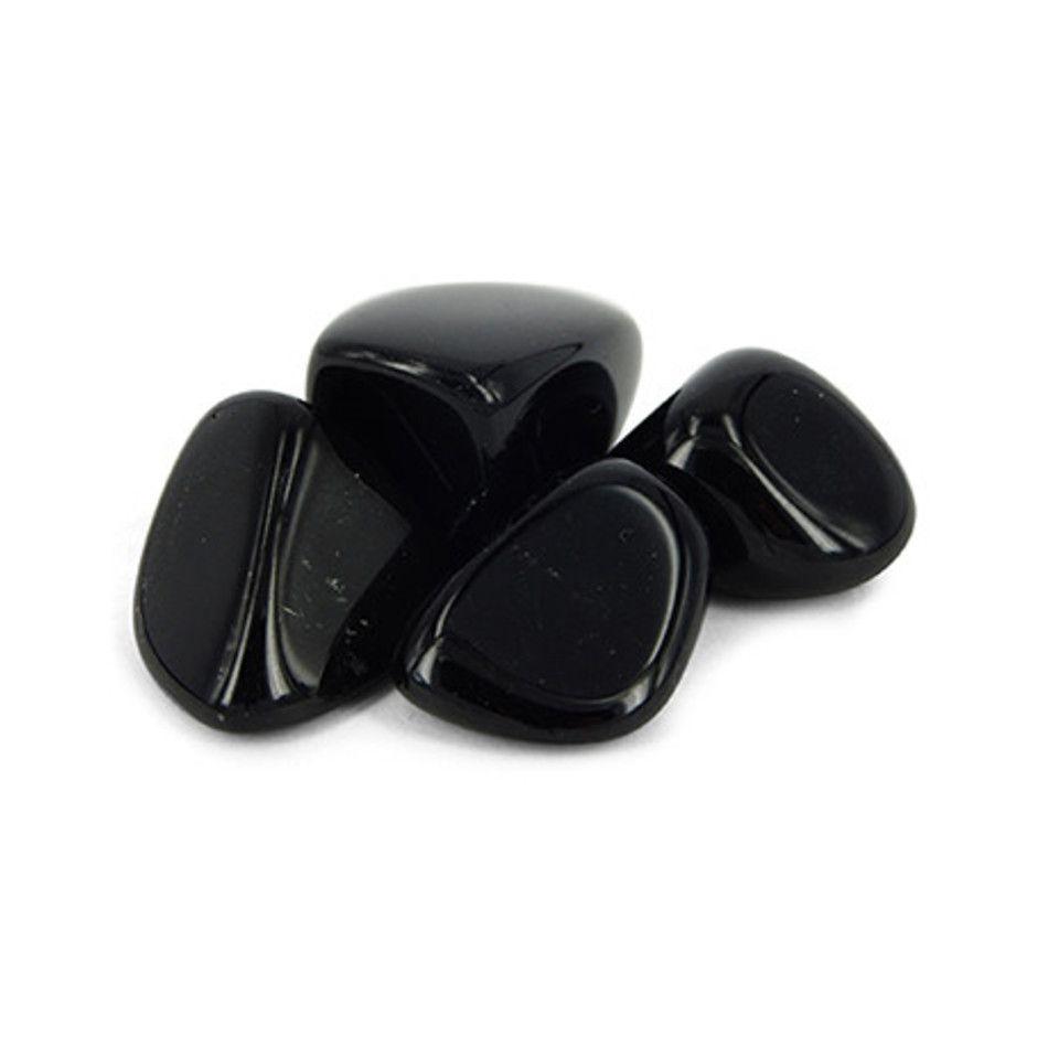 Obsidiaan zwart 50 gr. trommelstenen (mt3)