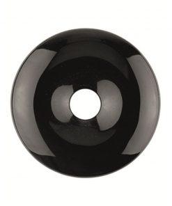 Obsidiaan zwart donut 30 mm