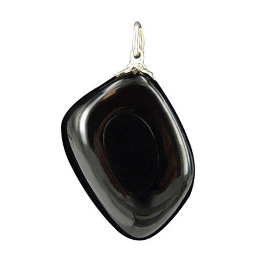 Obsidiaan zwart edelsteen hanger