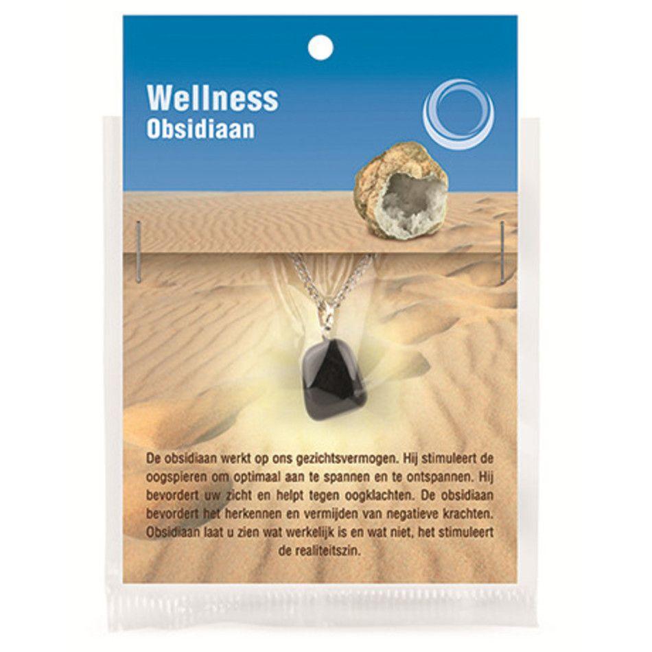 Obsidiaan zwart gezondheids hanger