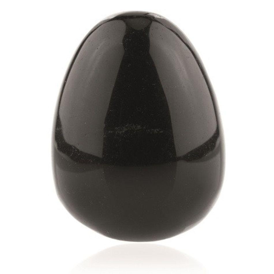 Obsidiaan zwart yoni ei 43x30 mm