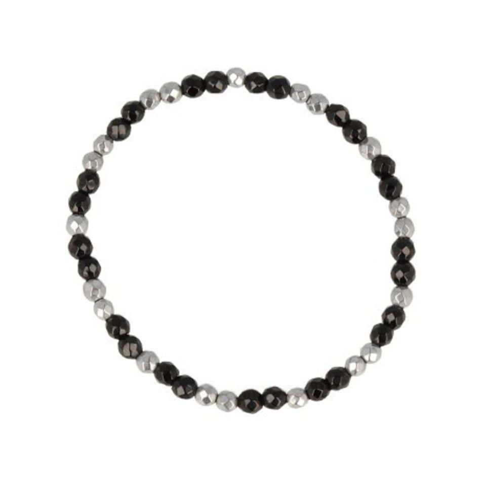 Onyx facet kralenarmband 4 mm