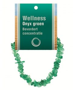 Onyx groen splitarmband + kaart
