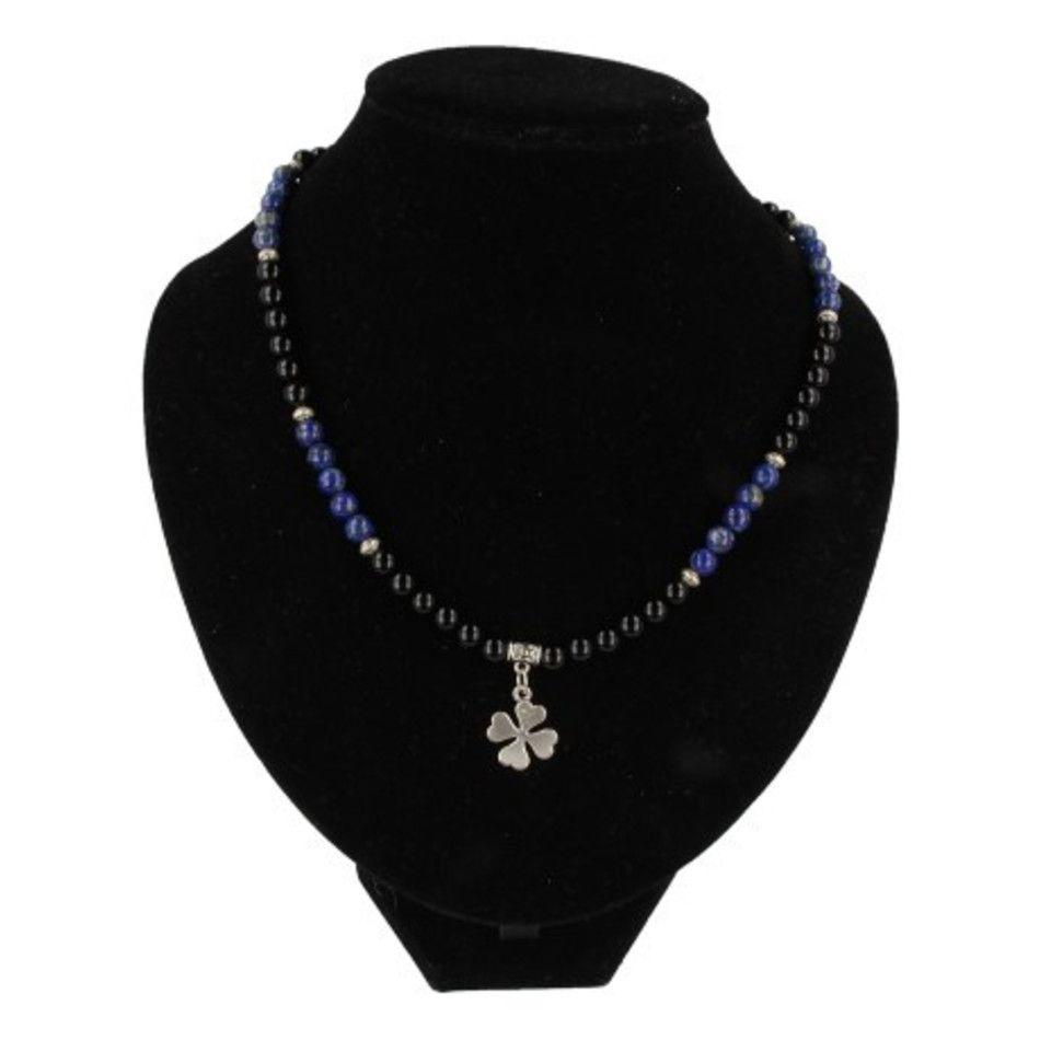Onyx / Lapis Lazuli edelsteen ketting mannen