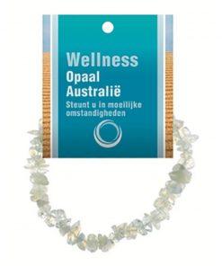 Opaal Australië splitarmband + kaart