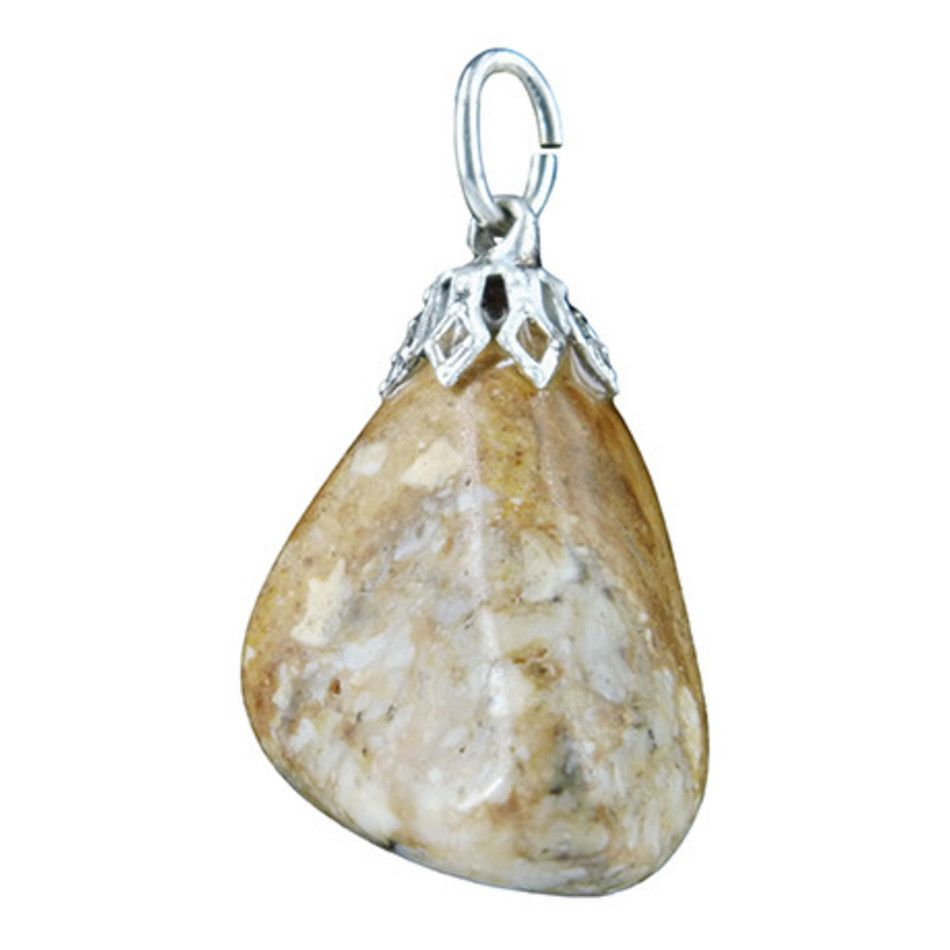 Opaal dendriet edelsteen hanger