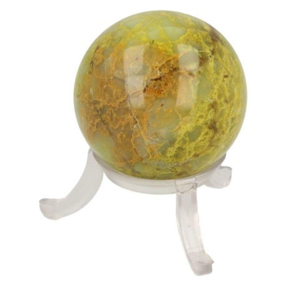Opaal groen edelsteen bol 40 mm