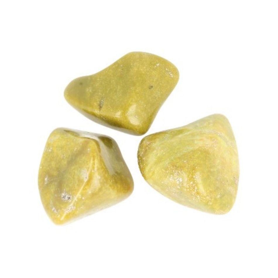Opaal groen trommelstenen (mt3), per gram