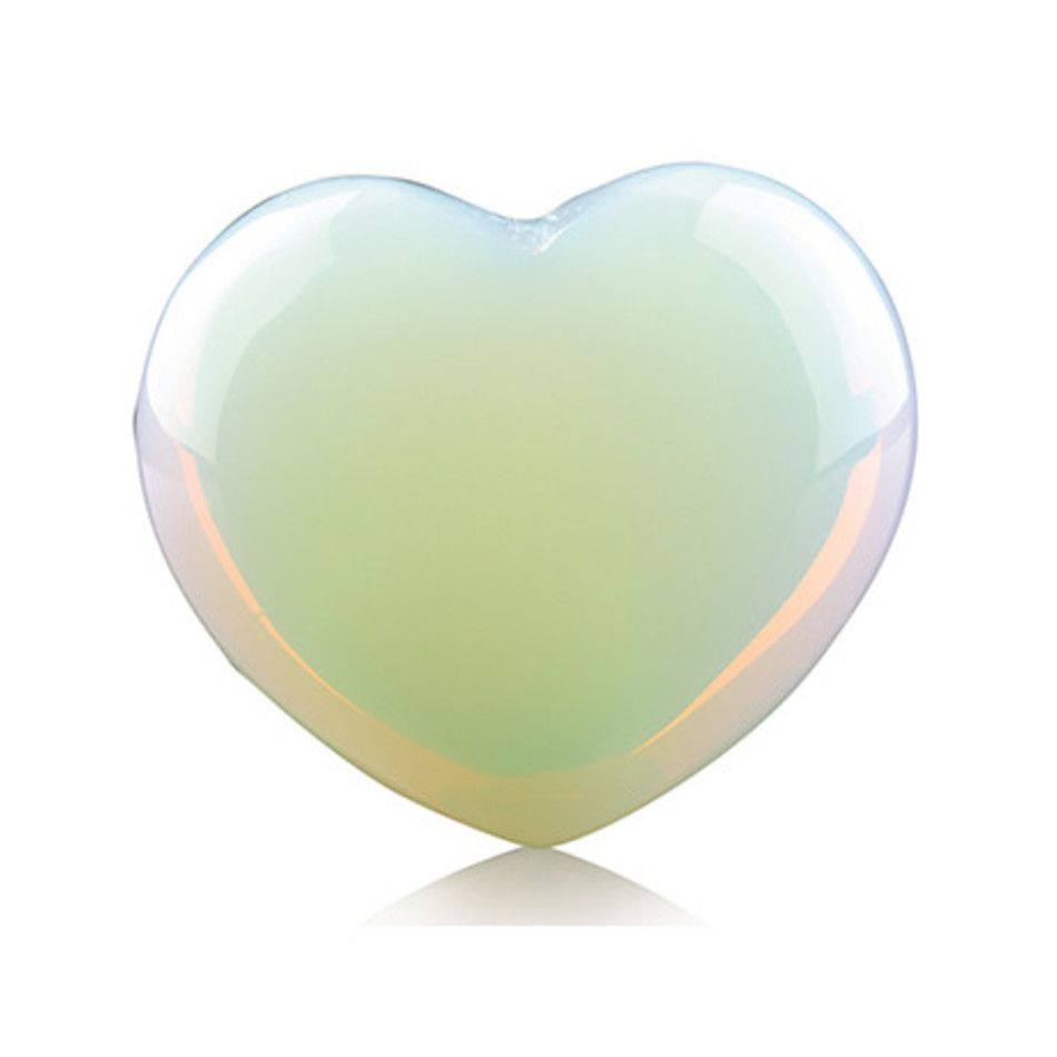 Opaliet edelsteen hart 10 mm (synth)