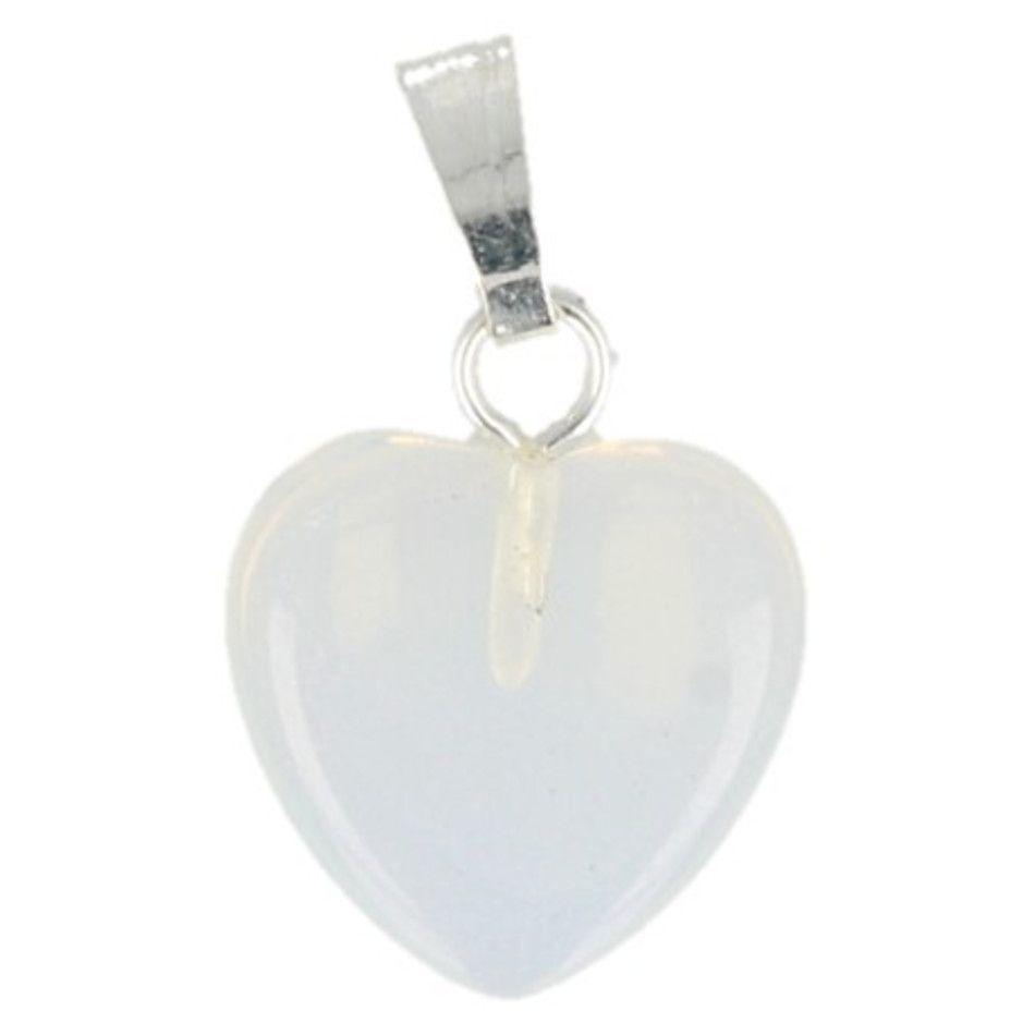 Opaliet hart hanger 12 mm (synth)