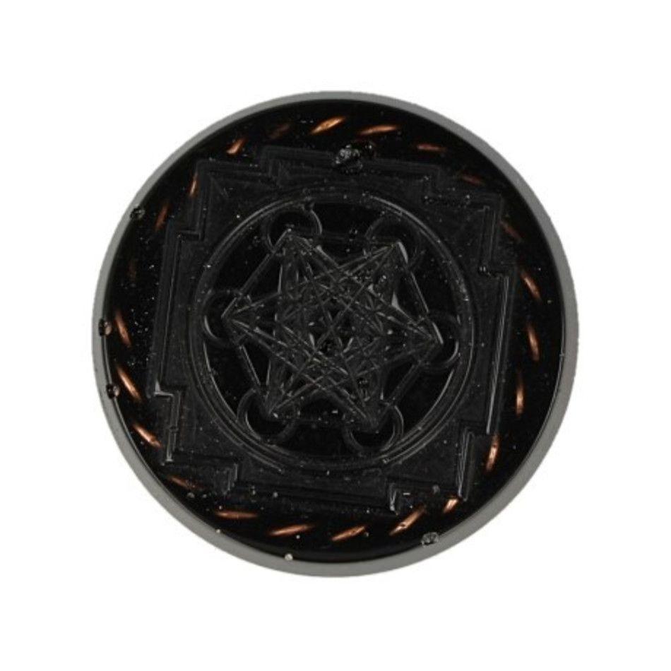 Orgonite beschermschijf Merkabah en Tensor Ring