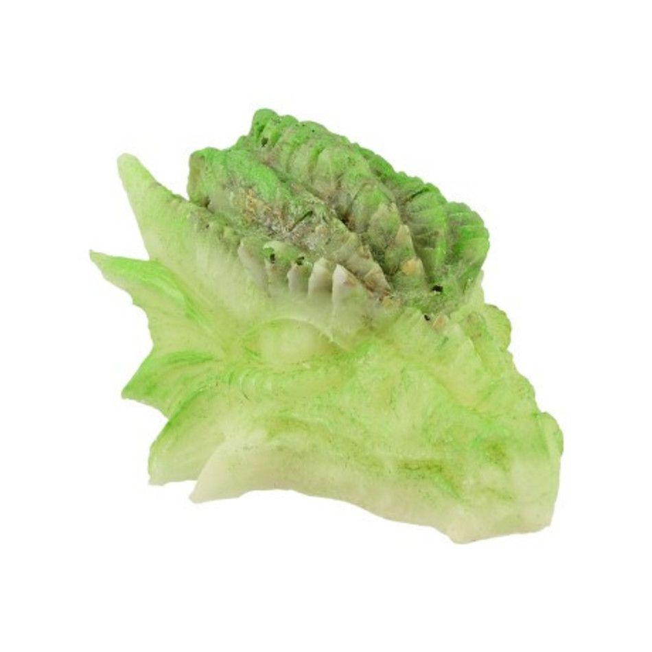 Orgonite drakenschedel groen / wit
