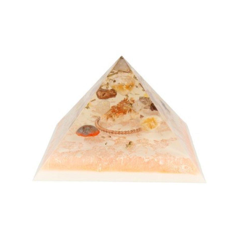 Orgonite piramide Bariet Vanadeniet met Tensorring