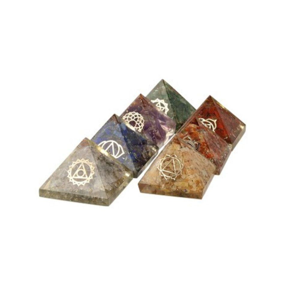 Orgonite piramide chakra set