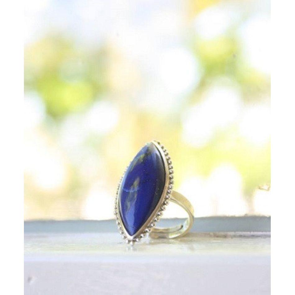 Ring Lapis Lazuli zilver markies