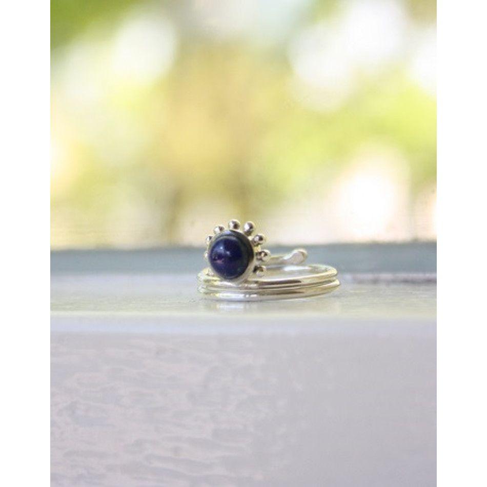 Ring Lapis Lazuli zilver - mt17
