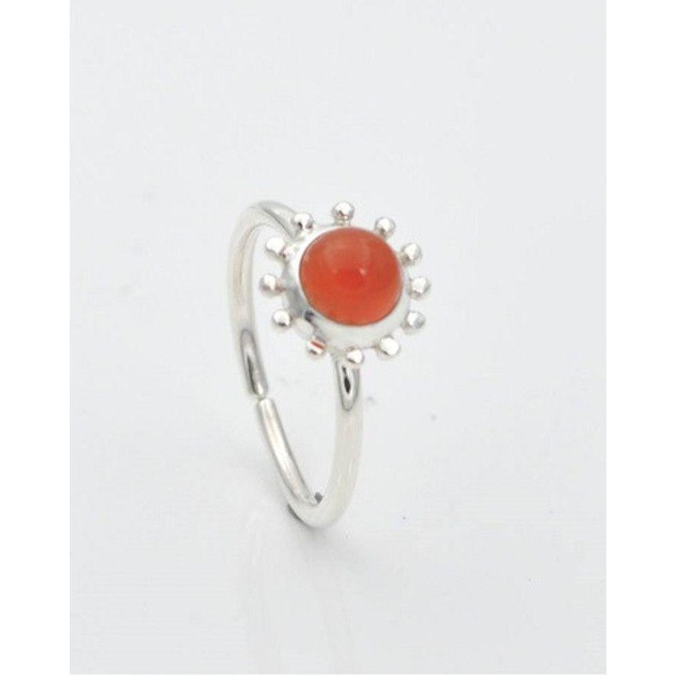 Ring met Carneool Kanchan rond