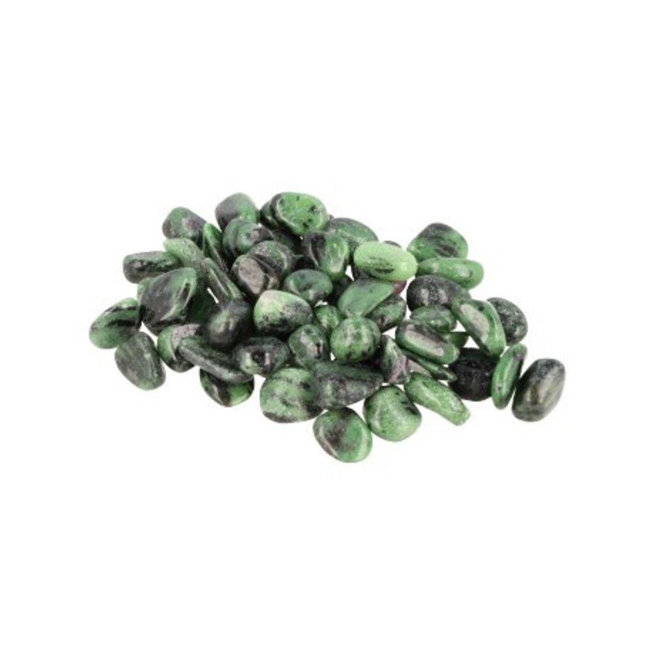 Robijn in Zoisiet 100 gr. trommelstenen (mt2)