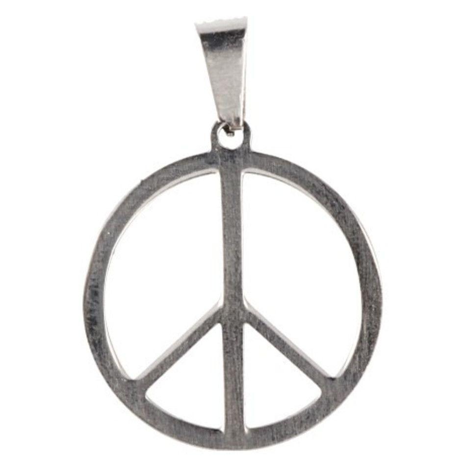 Roestvrij stalen hanger Peace