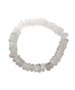 Roundel armband Bergkristal