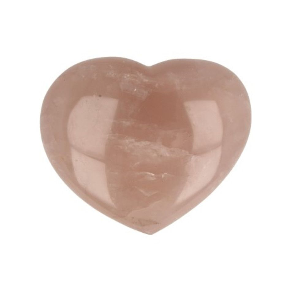 Roze kwarts edelsteen hart nr.55
