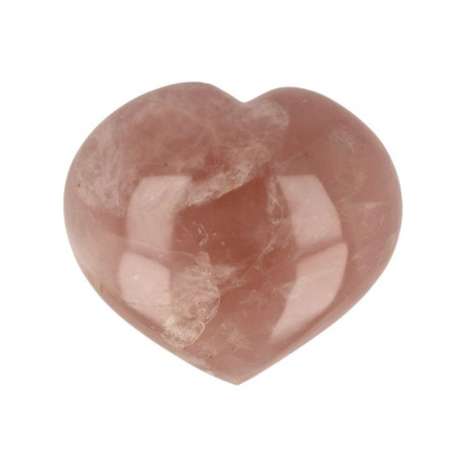 Roze kwarts edelsteen hart nr.56