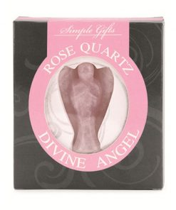 Roze kwarts engel 5 cm displayset 1 st.
