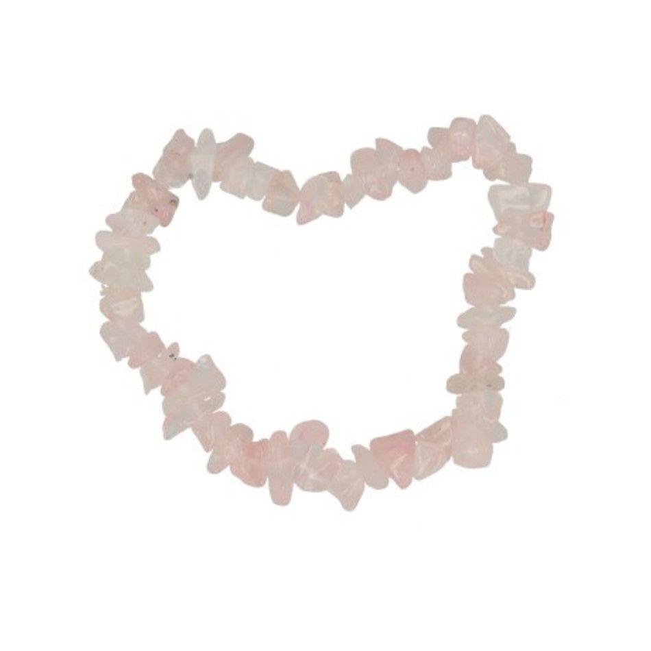 Roze kwarts kinder armbandje split
