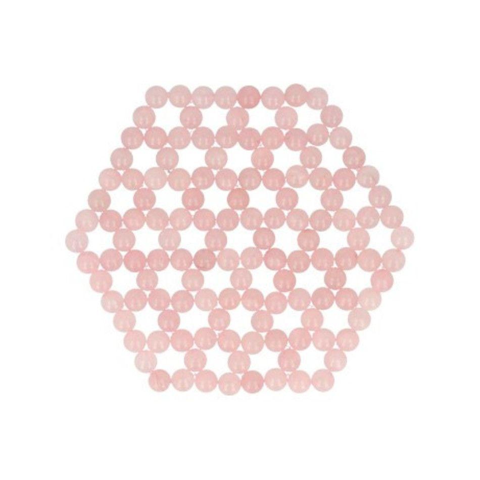 Roze kwarts levensbloem onderzetter / mat