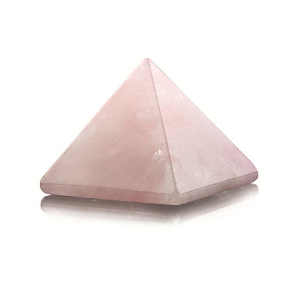 Roze kwarts piramide 30 mm edelsteen