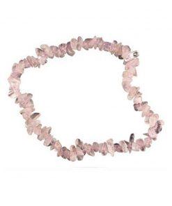 Roze kwarts splitarmband