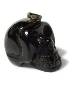 Schedel hanger Obsidiaan zwart