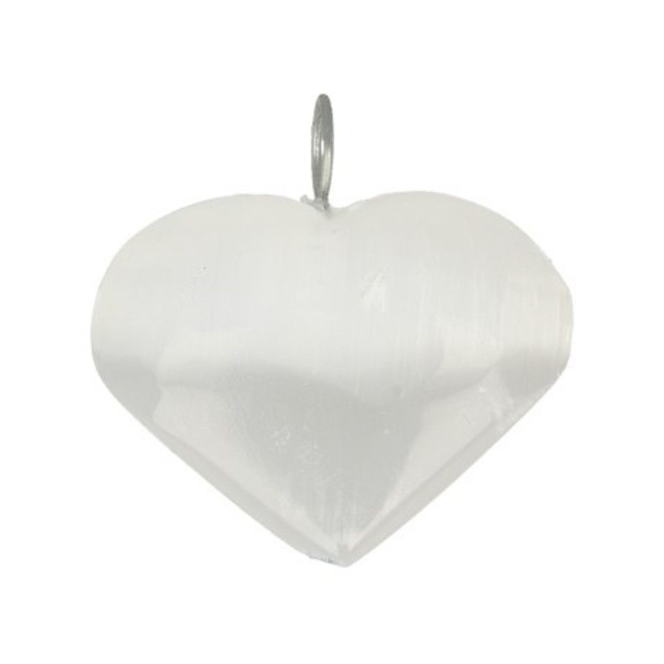 Seleniet hart hanger 25 mm