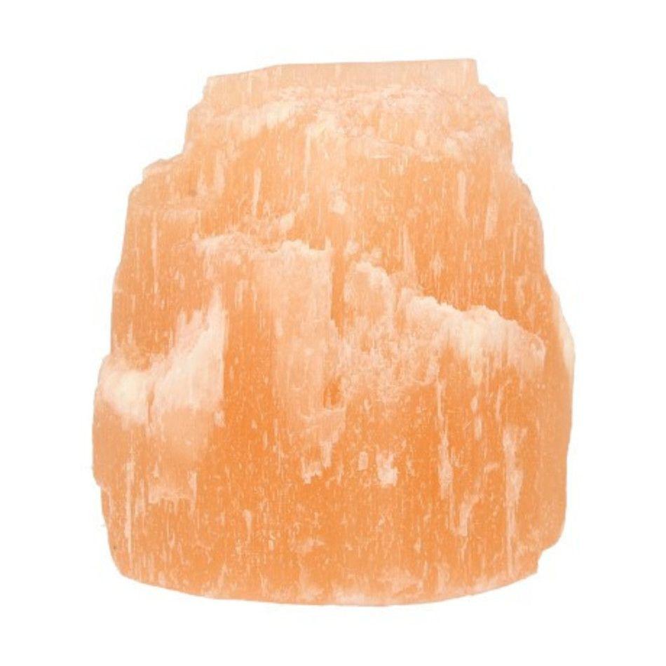 Seleniet ijsberg oranje theelichthouder
