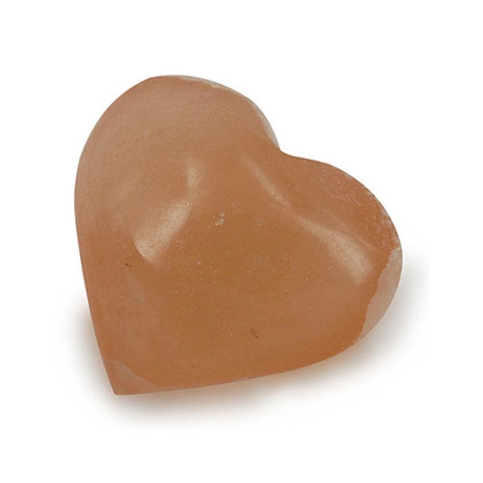 Seleniet oranje edelsteen hart 40 mm