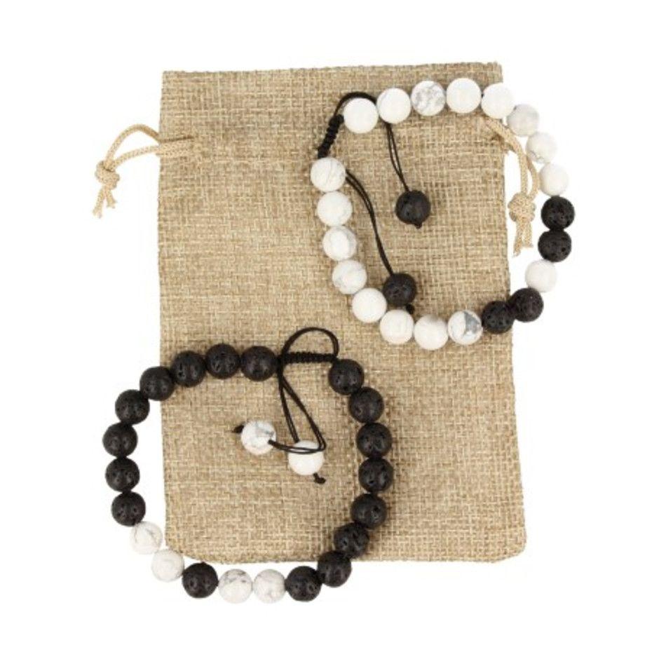 Shamballa armbanden set yin/yang in buidel