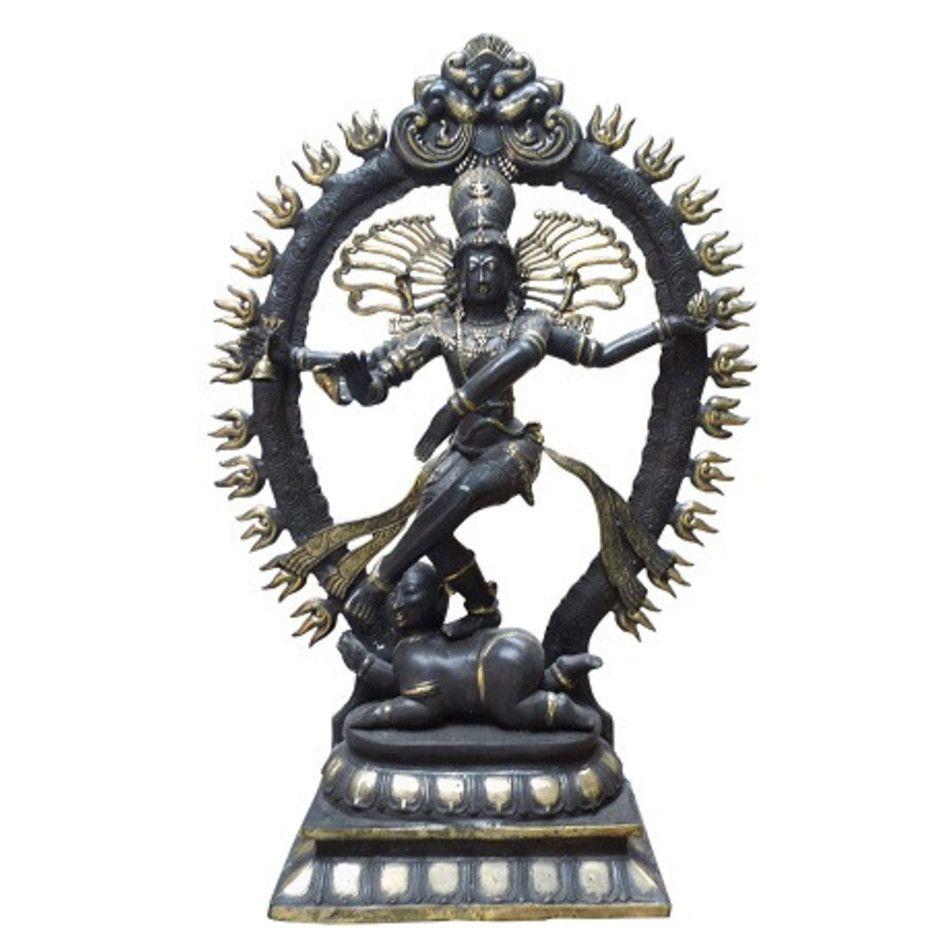Shiva met ring beeld brons nr.5