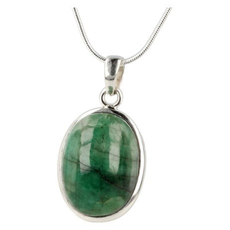 Smaragd hanger in zilver nr.8