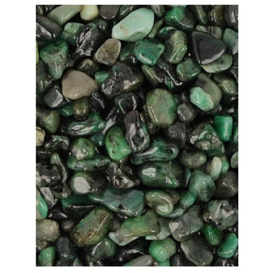 Smaragd trommelstenen (mt1), per gram
